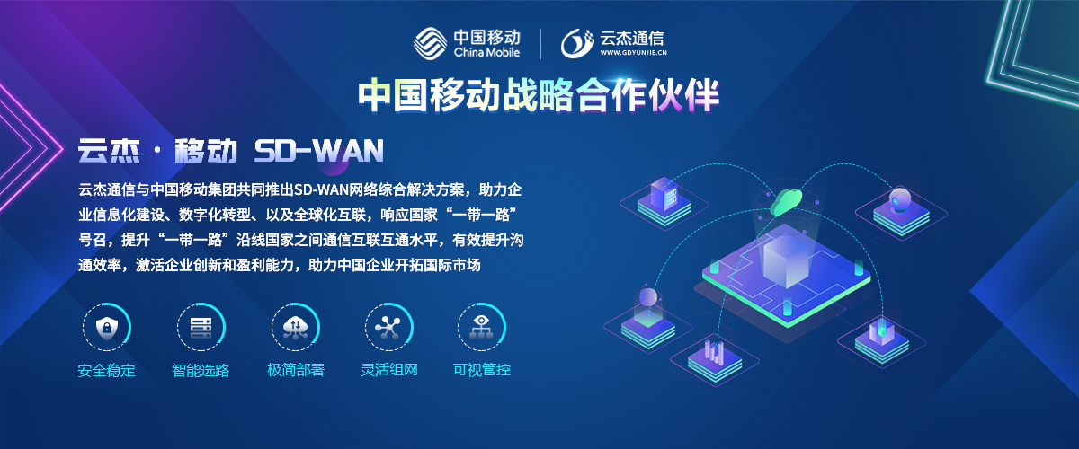 企業SD-WAN組網,中國移動SDWAN合作伙伴