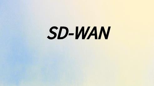 sdwan广域网在现在企业中的应用