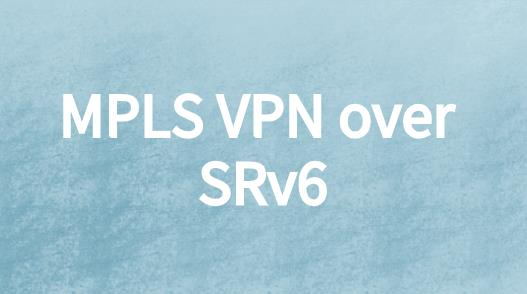 MPLS VPN over SRv6